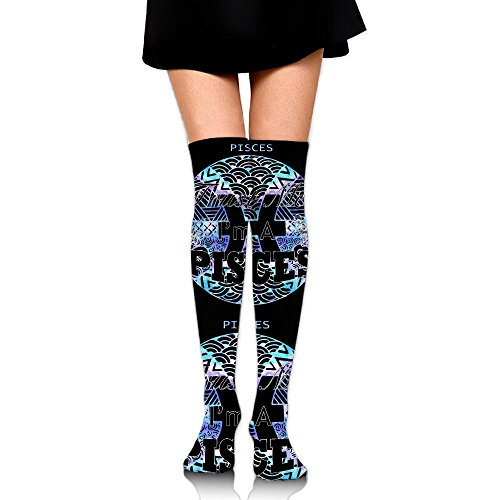 Trust Me I'm A Pisces Womens Over The Knee Thigh High Stockings Fashion Socks