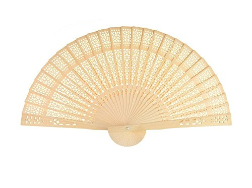 Forsun Sandalwood Fan (Set of 50 pcs) - Baby Shower Gifts & Wedding Favors&birthday gifts&Christmas gift by FORSUN (Image #2)