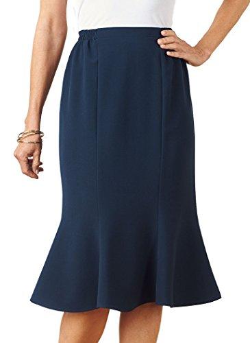 AmeriMark Gored Skirt - Flat Front Petite Skirt