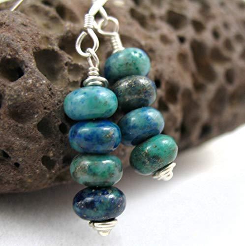 Tides • Malachite-Azurite Gemstone Earrings