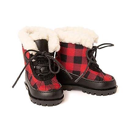 new products 62b7e 054f2 Amazon.com: Maplelea Wood Buffalo Winter Boots for 18 Inch ...