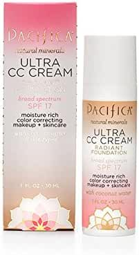 Pacifica Beauty SPF 17 Ultra CC Cream Natural Radiant Foundation, Natural/Medium, 1 Fluid Ounce