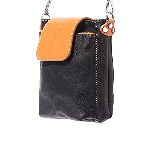 "9607 Claro Negro De marron Leather Cuero Florence Market Bandolera Bolso ""stella n80vFZHqwZ"