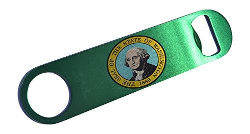 Washington State Flag Speed Professional Bottle Opener Heavy Duty Gift WA