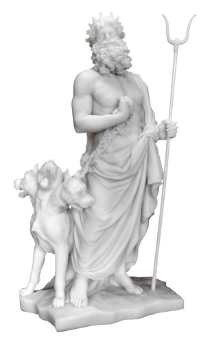 - Hades (Pluto) and Cerberus 6138 , Greek Roman God of the Underworld Statue