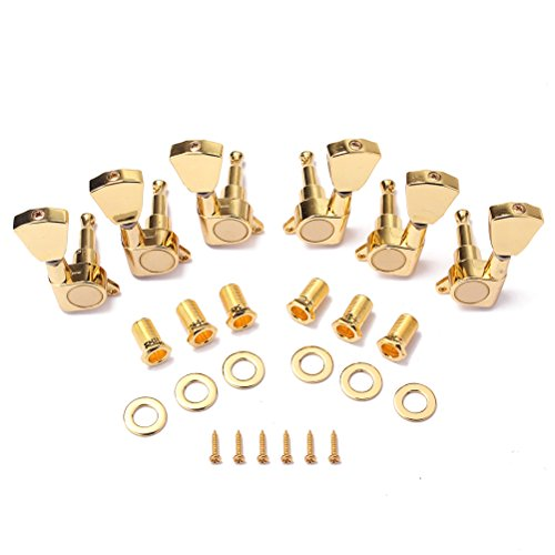 ROSENICE String Guitar Tuning Pegs Keys Tuners Machine Heads for Acoustic Electric Guitar Parts 6Pcs (Golden) by ROSENICE (Image #8)