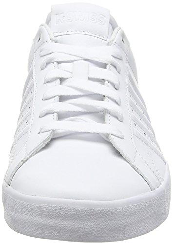 K-Swiss Belmont, Damen Sneakers Weiß (white/white)