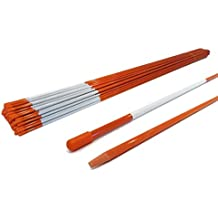 The ROP Shop Pack of 100 Driveway Markers, Snow Poles, Stakes, Rods, 48 inches, 5/16 inch