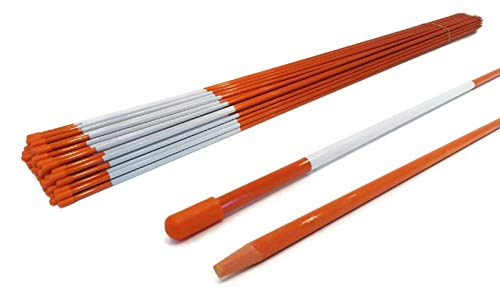 The ROP Shop Pack of 100 Driveway Markers, Snow Poles, Stakes, Rods, 48 inches, 1/4 inch