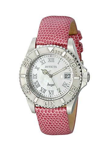 Invicta Womens 18404 Angel Analog Display Swiss Quartz Pink Watch