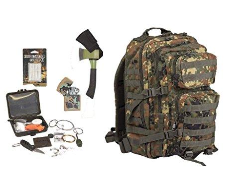 AOS-Outdoor Survival Set Trekking Outdoor Set 5 Teile Flecktarn Diverse Farben
