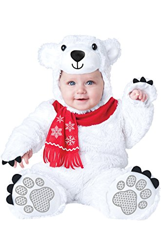 InCharacter Costumes Baby's Lil' Polar Bear Costume, White, (Toddler Polar Bear Costumes)