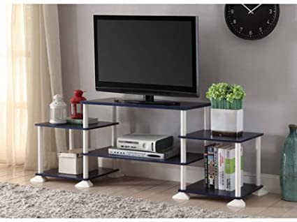Mainstay 3-cube Media Entertainment Center for Tvs up to 40 Plasma Television Cabinets Flat Screen Stand Stands Storage Organizer Home Living Room Furniture Navy 1