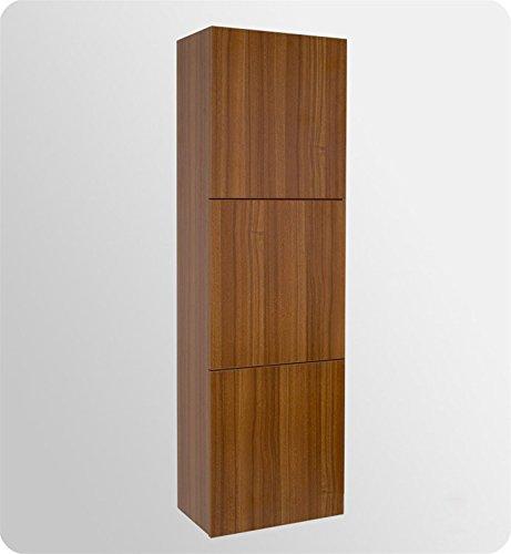 Fresca Bath FST8090TK Bathroom Linen Side Cabinet with 3 Large Storage Area, Teak
