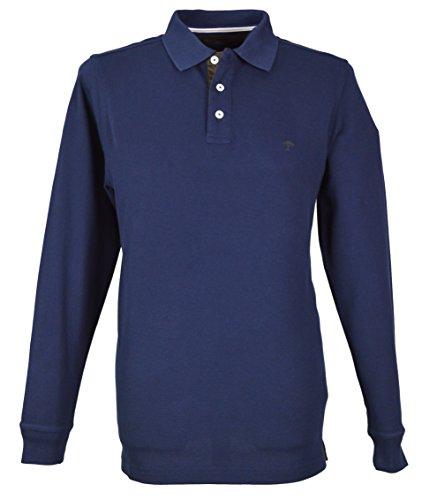 Fynch Hatton Herren Langarmshirt blau navy