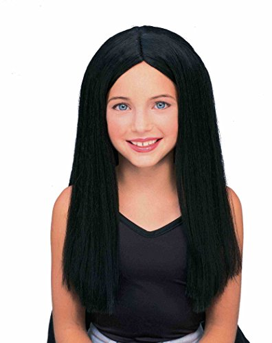 Forum Long Child Wig, Black (Goth Halloween Costumes For Kids)