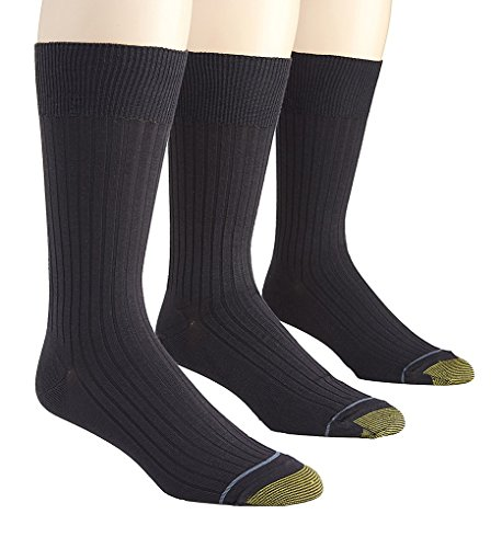 GOLD TOE Men's 3-Pack Canterbury Dress Socks Navy