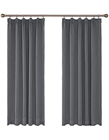 883b01761fc UMI. Essentials Thermal Insulated Pencil Pleat Blackout Curtains Two Panels