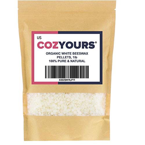 Cozyours White Beeswax Pellets, Organic, 1 LB
