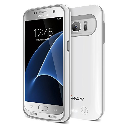 Galaxy S7 Battery Case, Trianium Atomic Pro Charging Battery Pack for Samsung Galaxy S7 - 4500mAh Extended Battery Fast Charger [Quick Charge Compatible] Protective Case Power Pack Juice Bank-White