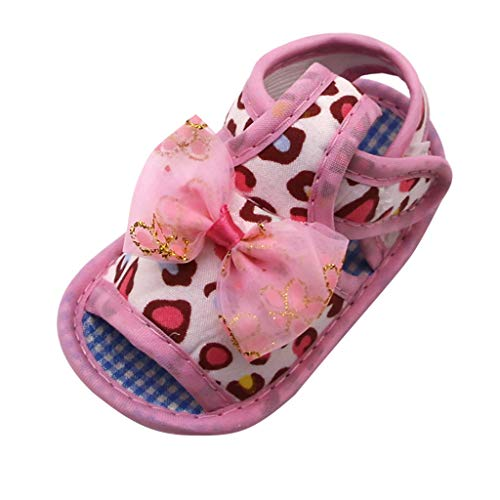 (Randolly Baby Shoes  Summer Newborn Baby Girls Leopard Print Prewalker Soft Sole Sandals Single Shoes)