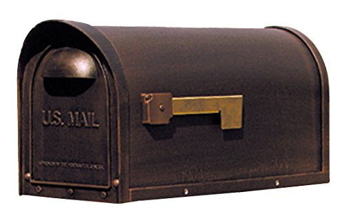 Special Lite Products SCC-1008-CP Classic Curbside Mailbox, Copper - Mount Copper Mailbox