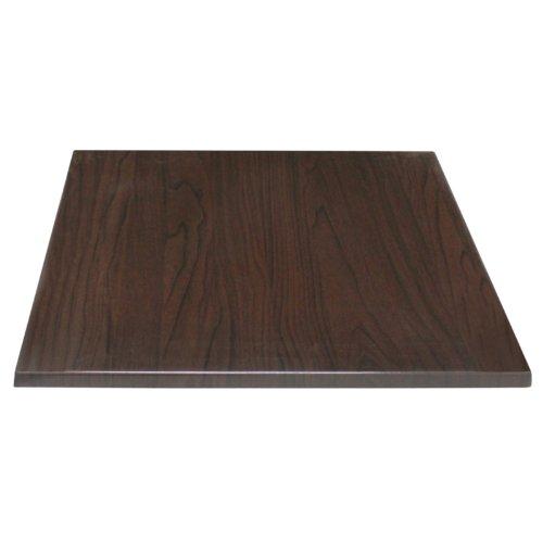 Bolero Square Table Top Dark Brown 600mm Wood Restaurant Catering Hotel Bar Nisbets 3235