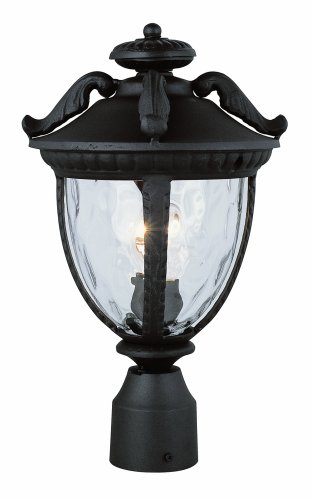 Trans Globe Lighting 5274 BK 16-3/4-Inch 1-Light Outdoor Medium Hanging Lantern, Black