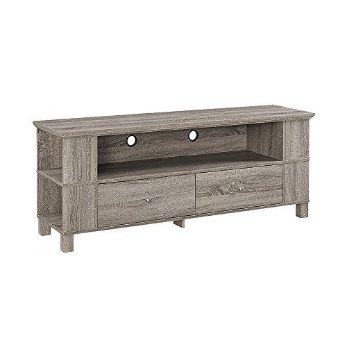 "WE Furniture 60"" Wood TV Stand - Driftwood - Driftwood 4 Us"