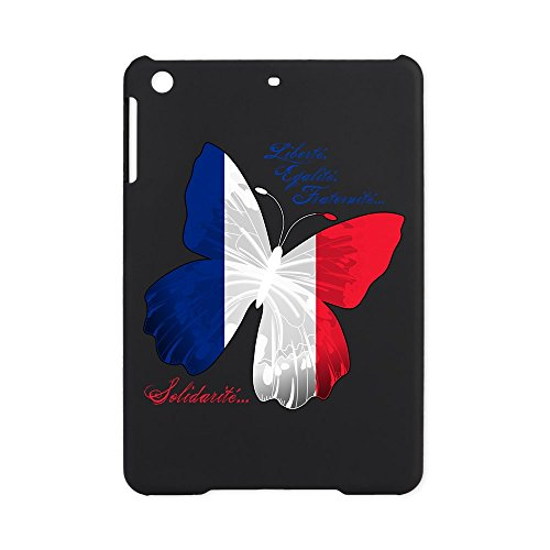 (iPad Mini Case Black French Flag Butterfly Solidarite)