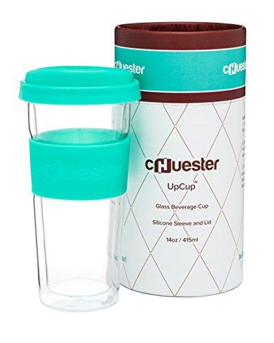 Chuester 14oz Double-Walled Glass Travel Mug