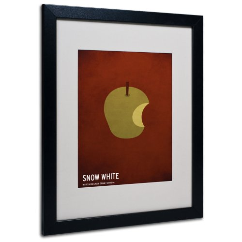 Trademark Fine Art Snow White Artwork by Christian Jackson in Black Frame, 16 by 20-Inch by Trademark Fine Art