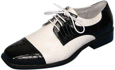 Chaussures Serpent Noires Et Blanches Pour Hommes (taille: 09)