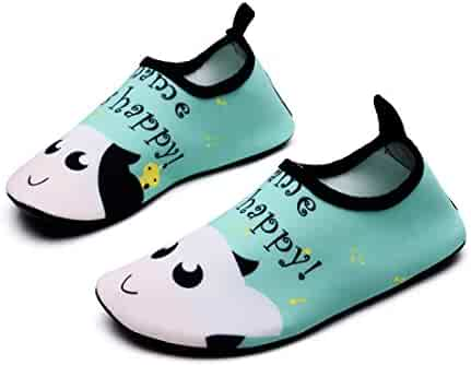 29d8de80a Lewhosy Kids Boys and Girls Swim Water Shoes Quick Drying Barefoot Aqua  Socks Shoes for Beach