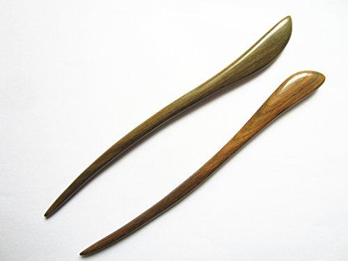 Myhsmooth Zz-gs-bt 2 Count Hair Sticks Natural Green Sandalwood Handmade Carved Hair Clip Shawl Hair Pins Pack of 2 Pcs:Swiming Fish