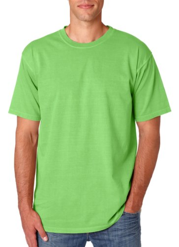 Comfort Colors 6.1 oz. Ringspun Garment-Dyed T-Shirt, Large, NEON - Outfits Neon Color