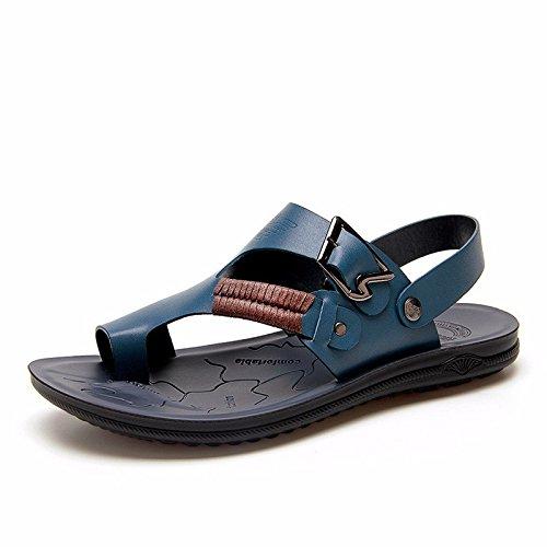Il nuovo Uomini sandali Uomini estate traspirante Spiaggia scarpa Uomini sandali Uomini Antiscivolo Tempo libero scarpa ,blu,US=8.5,UK=8,EU=42,CN=43