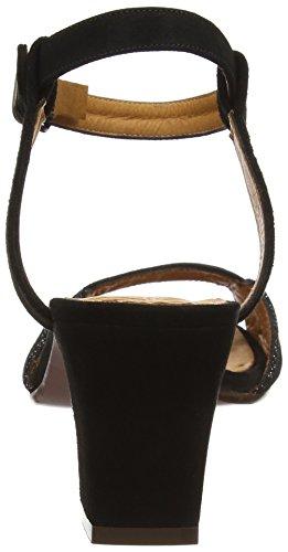 Chie Mihara Kesya - Sandalias de tobillo Mujer Black (ante Negro-saco Negro)