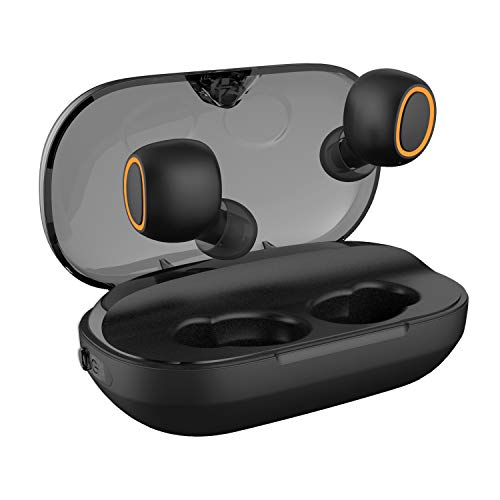 NUATE 2019 Upgrade True Wireless Earbuds, Bluetooth 5.0,3000mAh with LED Charging Dock 140H Playtime 3D Stereo Sound, Noise Canceling IPX7 Waterproof in-Ear Headphones Built-in Mic for Sports