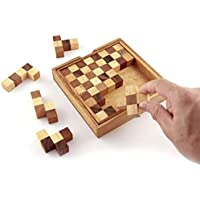 ARFA- Wooden 13-Piece Pento Chess Puzzle Board- Wooden Toy Game - Brain Teaser - Hexagon (30 Parts) Great for Adults and Kids with Super fine Finishing, Good for Return Gifts, 1 Piece.
