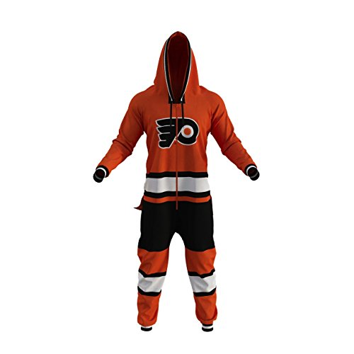- Hockey Sockey EXPEDITE Shipping NHL Philadelphia Flyers Adult Onesie Onesie Fan Apparel (L)