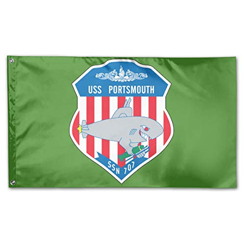 USS Portsmouth SSN 707 Garden Flags 3 X 5 in Indoor&Outdoor Decorative Home Fall Flags Holiday Decor