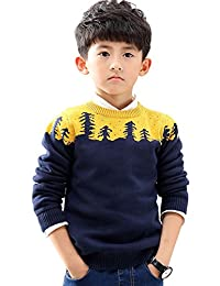 NABER Kids Boys' Fitted Knitwear Pullover Crew Neck Sweaters Size 3-8 Years