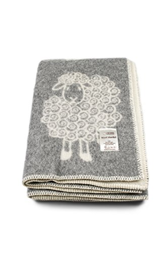 Natural Wool Blankets with Sheeps, New Zealand Wool, ()