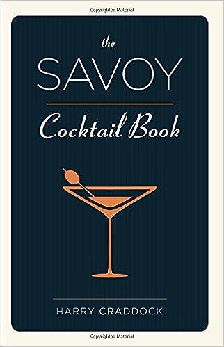 Amazonfr The Savoy Cocktail Book Harry Craddock Livres