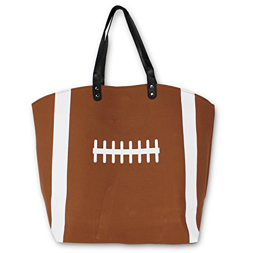 Knitpopshop Football Mom Canvas Tote Bag Handbag Large Oversized Gifts Canvas Tote Bag Handbag