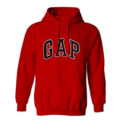 - GAP Pullover Men's Fleece Hoodie Logo (X-Small, Red)