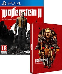 Wolfenstein II: The New Colossus + Steelbook Case PS4 by UK IMPORT