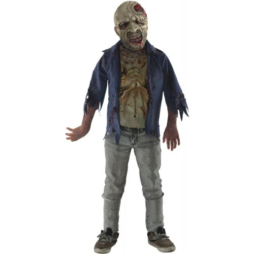 The Walking Dead TV Show Teen Deluxe Decomposed Zombie Costume, Multicolored, Teen -