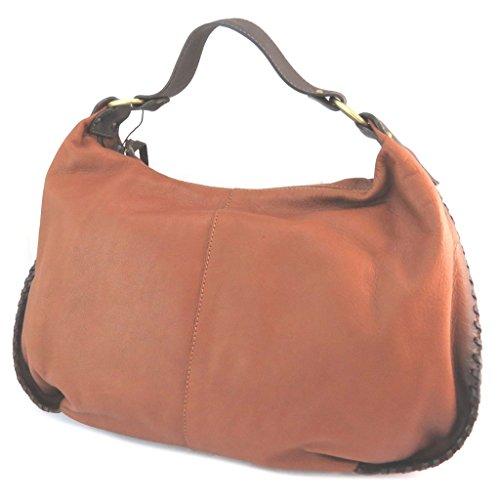 Bolsa de cuero 'Gianni Conti'marrón de la vendimia - 41x25x12 cm.
